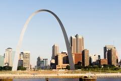 Brama Zachodni śródmieścia St Louis łuku nabrzeże obraz royalty free