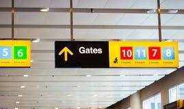 Brama znak przy lotniskiem Obraz Royalty Free