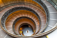 Bramante楼梯,从梵蒂冈的出口台阶 库存照片
