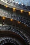 Bramante Ślimakowaty schody, Watykański muzeum, watykan, Włochy fotografia royalty free