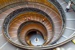 Bramante schody, wyjście schodki od watykanu Zdjęcia Royalty Free