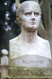 Bramante statue. Villa Borghese, Rome Italy Royalty Free Stock Photography