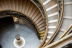 Bramante trappa på det vatican museet, rome Fotografering för Bildbyråer