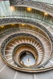 Bramante trappa på det vatican museet, rome Royaltyfri Fotografi