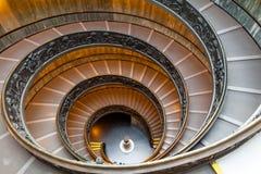 Bramante trappuppgång, utgångstrappa från Vatican City Arkivfoton