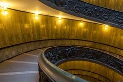 Bramante trappuppgång, utgångstrappa från Vatican City Arkivbilder