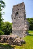 Bramber Castle remains West Sussex  South East England UK. Ruined Norman motte-and-bailey medieval Bramber Castle, West Sussex,  South East England, UK Royalty Free Stock Photo
