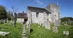Bramber medioevale della parrocchia dell'Inghilterra della chiesa Fotografia Stock