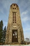 Bramberk Lucany nad Nisou - Tschechische Republik-Kirche stockfotos