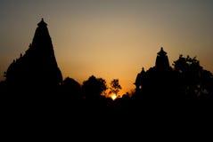 Bramha寺庙-克久拉霍 库存图片