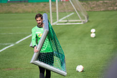 Bramkarz Christofer Heimeroth w sukni Borussia Monchengladbach Obraz Royalty Free