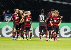 Bramkowy Admir Mehmedi Bayer Leverkusen Zdjęcie Stock