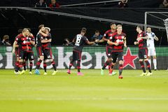 Bramkowy Admir Mehmedi Bayer Leverkusen Obraz Royalty Free