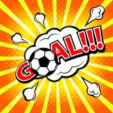 Bramkowy futbolowy sport, piłki nożnej piłka Wystrzał sztuki stylu sztandaru wiadomość ilustracja wektor
