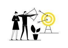 Bramkowy osiągnięcie - płaska projekta stylu wektoru ilustracja ilustracja wektor