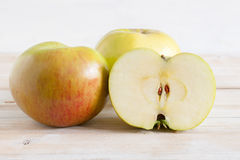 Bramley Apples. Bramley cooking apples or Malus domestica 'Bramley's Seedling' a popular British variety for making pies and desserts royalty free stock image