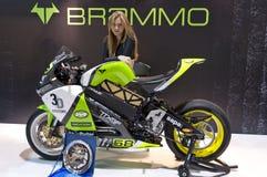 Brammo EMPULSE RR RACING in EICMA 2011 Stock Photo