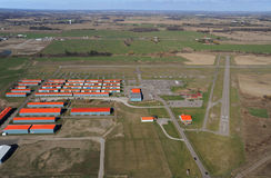 Brampton Airport, Ontario. Brampton airport from 1000 feet stock images