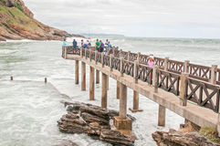Bramwell Butler Pier at Victoria Bay Royalty Free Stock Image