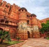 Bramy Czerwony fort Agra, India Obrazy Royalty Free