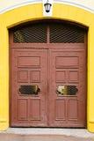 bramy drewniany Rocznika metalu brown wejście Zdjęcie Royalty Free