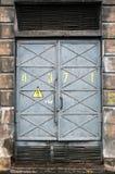 bramy elektryczna podstacja energetyczna zdjęcie royalty free