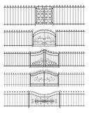 Bramy i żelaza płotowy horyzontalny bezszwowy ilustracji