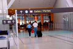 bramy lotniskowych ludzi zdjęcie stock