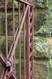 bramy ośniedziały stary Fotografia Stock