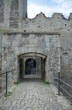 Bramy Rudelsburg kasztel, Niemcy Fotografia Royalty Free