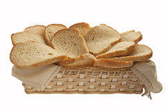 Bran bread in basket Royalty Free Stock Photo