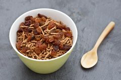 Bran breakfast cereal with sultanas Royalty Free Stock Photography