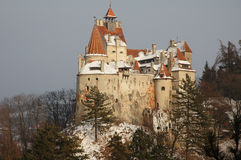 Bran Castle. (German: Törzburg; Hungarian: Törcsvár), situated near Bran and in the immediate vicinity of Brasov, is a national monument and landmark in Royalty Free Stock Photography