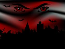 Bran castle. And vampire eyes Stock Image
