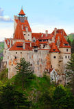 Bran Castle. The Bran Castle located in Romania. This is also known as Dracula's castle Royalty Free Stock Photo