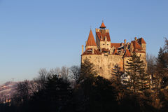 Travel to Romania: Bran Castle Afternoon Light stock photo