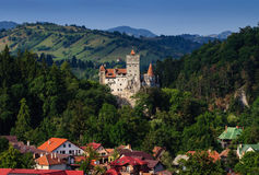 The Bran Castle and Bran city Stock Images