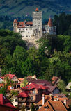 The Bran Castle and Bran city Royalty Free Stock Photos