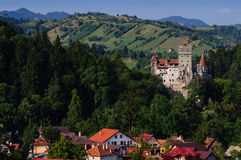 The Bran Castle and Bran city. Transylvania Royalty Free Stock Photo