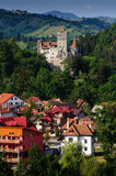 The Bran Castle and Bran city Stock Photo