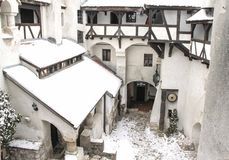 The Bran Castle -  the courtyard Royalty Free Stock Images