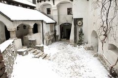 The Bran Castle - courtyard Royalty Free Stock Image