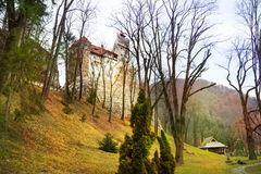 Bran Castle (Dracula castle) in Transylvania. And Wallachia, Romania Royalty Free Stock Images