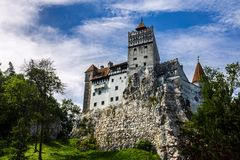 Bran Castle of Dracula in Romanian stock photography