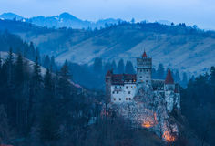 Bran Castle. Evening scene Royalty Free Stock Images