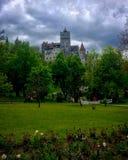 Bran castle garden Royalty Free Stock Photos