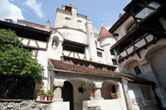 Bran castle inner yard Royalty Free Stock Images