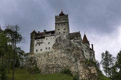 Bran castle on a rainy day stock image