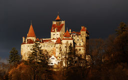 Bran Castle, Romania. Medieval Bran castle in Romania, known for Dracula story, one of landmarks of Romania Stock Images