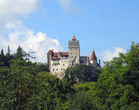 Bran Castle - Romania. Build almost 650 years ago, Bran Castle is very often associated with the character of Dracula (created by the Irish writer Bram Stoker) Royalty Free Stock Photography